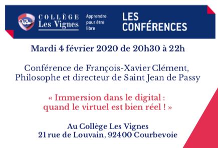 Mardi 4 février – Conférence de F.X. Clément sur le digital