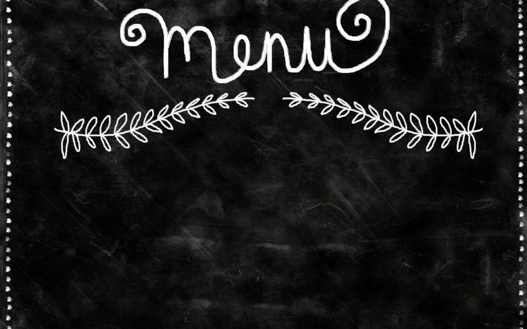 Les menus de la semaine du 5 octobre