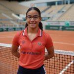 Bathilde Barrier, ramasseuse de balles à Roland-Garros